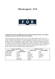 Mikrobryggerier | FUR | Afsætning