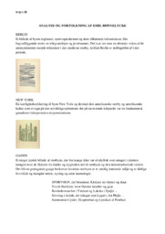 Emil Bønnelycke  | Analyse & Fortolkning | Noter