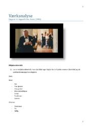 Festen | Værkanalyse | Opgave om dogmefilmen