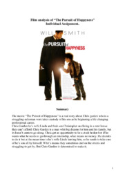 Film analysis | The pursuit of happyness