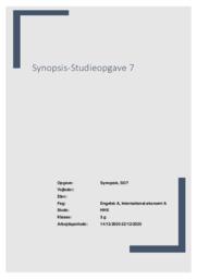 SO7 Synopsis  | 12 i karakter