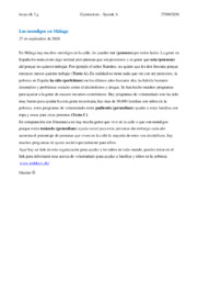 Los mendigos en Málaga   Spansk opgave