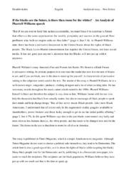 Analysis of Pharrell Williams Speech | Analytical Essay