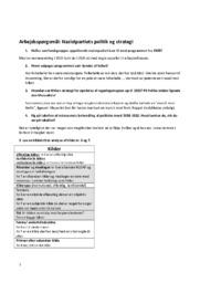 Arbejdsspørgsmål   Nazistpartiets politik & strategi