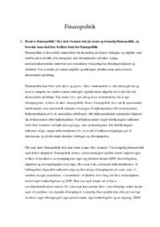 Finanspolitik | 10 i karakter
