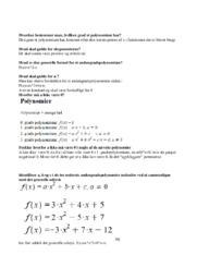 Hvordan bestemmer man, hvilken grad et polynomium har