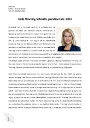 Helle Thorning-Schmidts grundlovstale i 2013 | Analyse