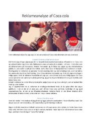 Reklameanalyse af Coca cola | 10 i karakter