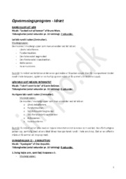 Opvarmningsprogram for idræt C