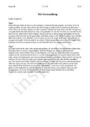 Die Verwandlung – tag 1 und tag 2 | Tysk Opgave