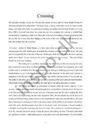 Crossing | Essay