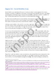Social Mobility Essay | 12 i karakter