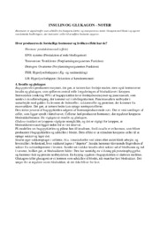 Insulin og glukagon | noter