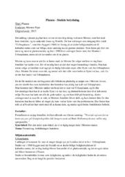 Analyse af Planen af Morten Pape | 10 i karakter