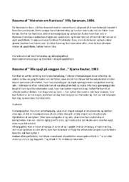 Resume af Historien om Narcissos | Villy Sørensen,
