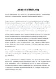 Analyse af Bulbjerg | 10 i karakter