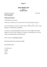 Johan Winther A/S – Tysk Handelskorrespondance | Tysk Opgave
