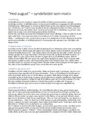 Novelleanalyse | Hed august | 10 i karakter