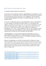 Notat | Danmark i den globaliserede verden