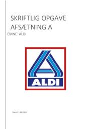 Aldi Case   Skriftlig Opgave   Afsætning Noter