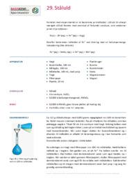 Redoxtitrering af Ståluld | Noter