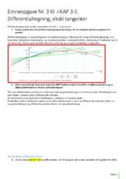 Emneopgave Nr 3 til  i KAP 3-5 | Differentialregning
