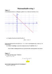 I koordinatsystemet er indtegnet grafen.. Mat opgave