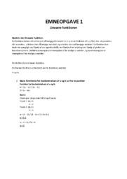 Lineære funktioner | 10 i karakter