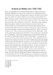 Analyse af Medea vers 1026-1062 | Oldtidskundskab
