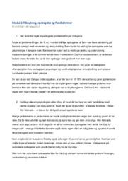 Modul 2 Tilknytning, opdragelse og familieformer