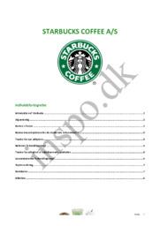 Starbucks coffee a/s | Afsætning