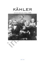 Kähler | Afsætning