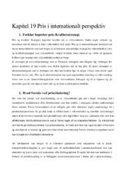 Kapitel 19 Pris i internationalt perspektiv | Afsætning