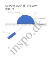 Rapport over j8 – lys som stråler | Fysik