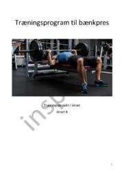 Træningsprogram til bænkpres | Træningsprojekt i idræt