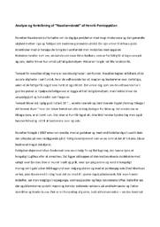 Naadsensbrød | Analyse Fortolkning | Henrik Pontoppidan