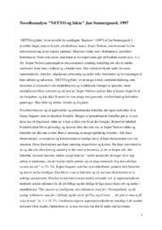 Novelleanalyse NETTO og fakta af Jan Sonnergaard