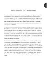 Sex | Novelle | Analyse | Jan Sonnergaard | 10 i Karakter