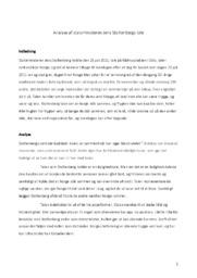 Statsministeren Jens Stoltenbergs Tale | Analyse | Dansk