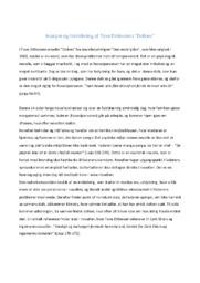 Analyse og fortolkning af Tove Ditlevsens   Dolken