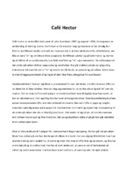Café Hector   Kortfilms analyse   12 i karakter