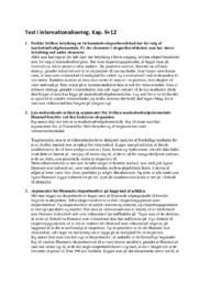 Test i internationalisering. Kap. 9+12 | Afsætning