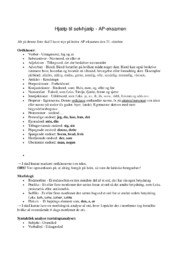 Hjælp til selvhjælp | AP eksamen | Noter