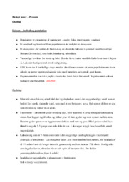Noter til Pensum i Biologi B | Over 10 sider