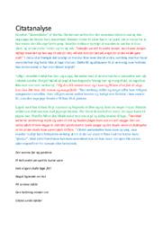 Glansbilleder | Analyse | Martha Christensen | 10 i Karakter
