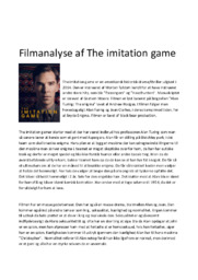 The imitation game | Filmanalyse | Morten Tyldom