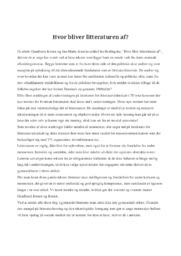 Hvor blev litteraturen af | Artikel | Dansk Opgave