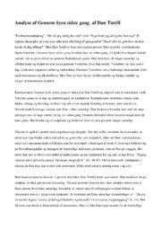 Analyse af Gennem byen sidste gang | af Dan Turèll