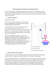 Invention from the Industrial Revolution   Opgave   10 i Karakter