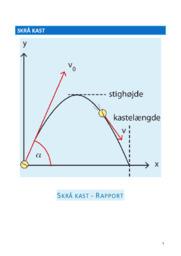 Skrå kast   Rapport   Fysiknoter